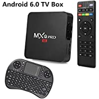 GEXING Android 6.0 OS TV BOX MXQ PRO Amlogic S905X [1G/8G] Quad Core 4K support WiFi HDMI DLNA With Free 2.4GHz Smart Wireless Keyboard