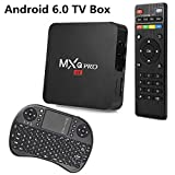 GEXING SZ Gexing Electronic Technology Co., Ltd  Android 6.0 OS TV BOX MXQ PRO Amlogic S905X [1G/8G] Quad Core 4K support WiFi HDMI DLNA With Free 2.4GHz Smart Wireless Keyboard