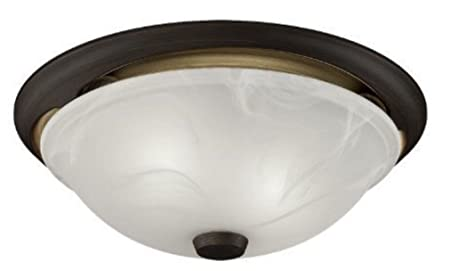 Broan 772RBNT Oil Rubbed Bronze 80 CFM 2 Sone Ceiling Mounted Energy Star Rated and HVI Certified Decorative Bath Fan with Light and Domed Alabaster Glass Shade