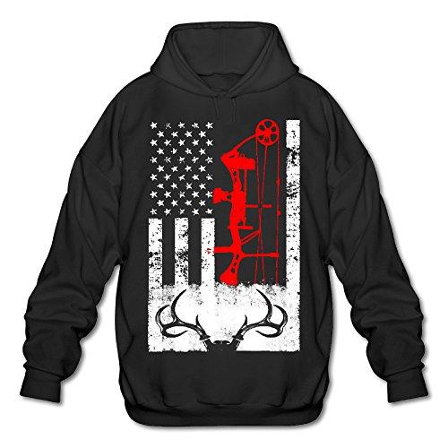 Deer Hunting US Flag Cool Hoodies Men Hoodies Sweatshirts Pullover