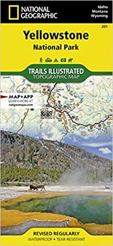 Yellowstone National Park (National Geographic Trails Illustrated Map, 201)