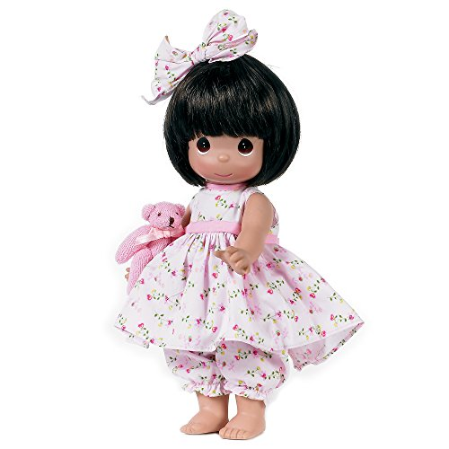 The Doll Maker Precious Moments Dolls, Linda Rick, Bear-Foot Blessings Brunette, 12 inch Doll from The Doll Maker