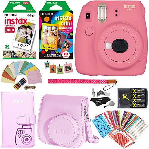 Fujifilm Instax Mini 9 Instant Camera , 1 Rainbow Film Pack,