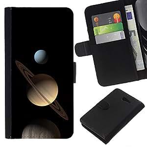 Planetar® Modelo colorido cuero carpeta tirón caso cubierta piel Holster Funda protección Para Sony Xperia M2 / M2 dual ( Space Planet Galaxy Stars 23 )