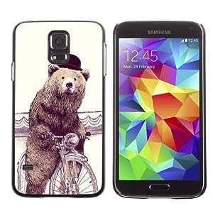 Designer Depo Hard Protection Case for Samsung Galaxy S5 / Sophisticated Bear Hipster wangjiang maoyi