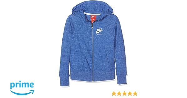 Nike G NSW VNTG Hoodie FZ Sudadera, Niñas, Azul (Comet Blue Sail), L: Amazon.es: Deportes y aire libre