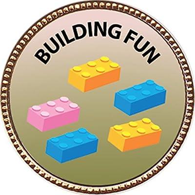 Keepsake Awards Building Fun Award, 1 inch Dia Gold Pin Recreation Collection: Toys & Games