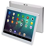 KuBi 3G Touch Tablet 10 Inch - Android 7.0-4G RAM + 64GB ROM - 800 x 1280 HD - Dual SIM Card Slots - Dual Camera - Bluetooth - WiFi for Kids Adults (10 inch, Silver)