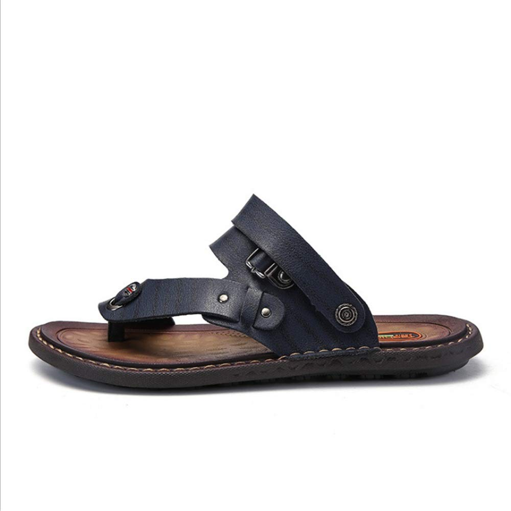 Wagsiyi Hausschuhe Freizeit Sandale Herren Sommer Outdoor Freizeit Hausschuhe und Anti-Rutsch-Strand Schuhe Blau Atmungsaktive Sandalen (24,0-28,0) cm Strandschuhe Blau eefc0a