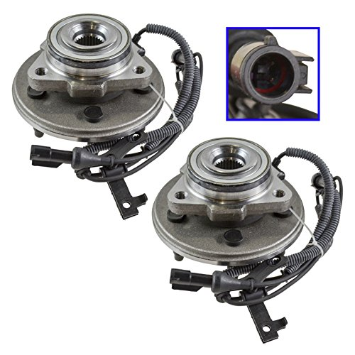 Wheel Hub & Bearing Assembly Front Pair Set for 06-10 Mountaineer ()