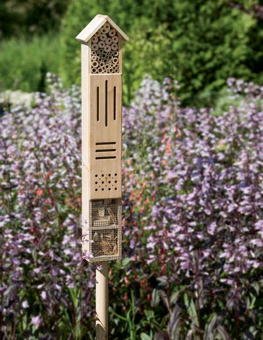 Gardener's Supply Company Wooden Insect Hotel with Stake