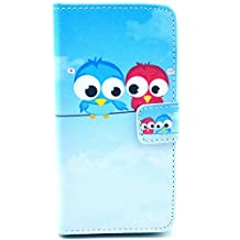 For Sony Xperia Z1 Compact Mini D5503 Case,[GloryShop] Lovers Owl Graphic,Fashion Style Wallet Case Magnetic Design Flip Folio PU Leather Cover Case For Sony Xperia Z1 Compact Mini D5503
