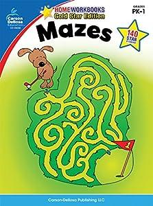 Mazes, Grades PK - 1: Gold Star Edition (Home Workbooks)
