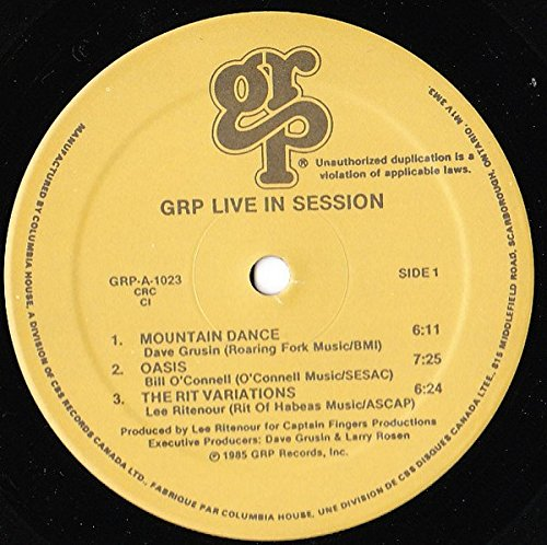 GRP Live in Session [Vinyl] by Grp Records