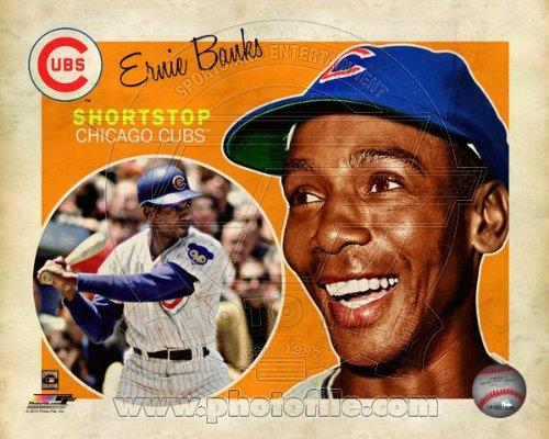 Ernie Banks Chicago Cubs 2013 MLB Retro Composite Photo 8x10