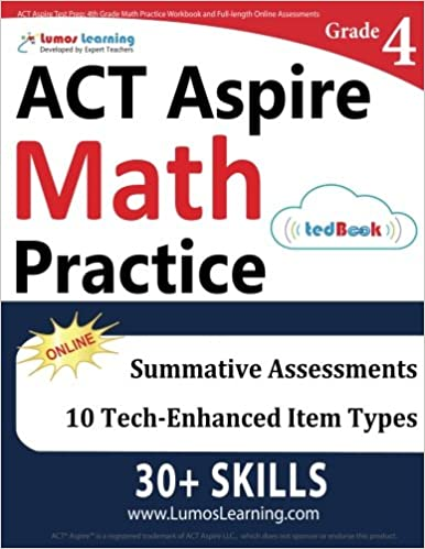 Act Aspire Test Prep 4th Grade Math Practice Workbook And Full