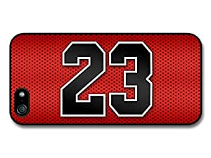 Michael Jordan MJ Number 23 Basketball Red Background case for iPhone 5 5S A4353