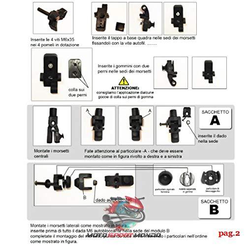 Isotta PQ01 leau et Le Soleil Protection Contre lair Se Fixe et Se d/éclipse Facilement au Pare-Brise Scooter Toit de Protection pour Pare-Brise