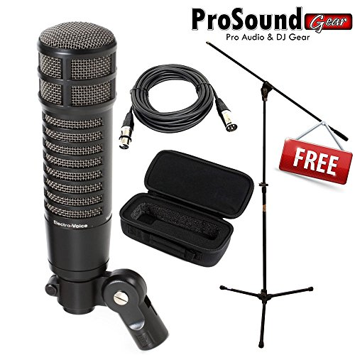 Electro Voice RE320 Dynamic Microphone - Free Mic Bag, Mic Stand W/ boom and XLR cable 15ft (ProSoundGear) Authorized Dealer