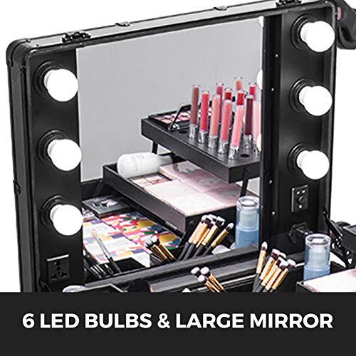 Amazon.com: Happybuy - Estuche de nailon para maquillaje con ...