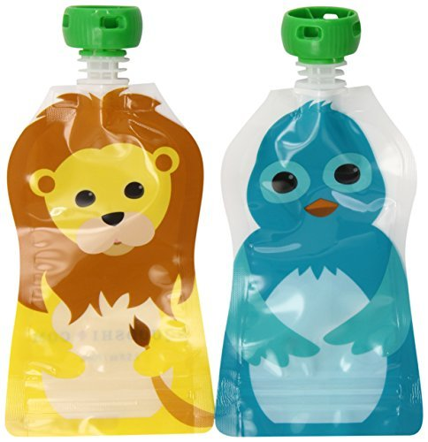squooshi-reusable-food-pouch-small-lion-bluebird-25-ounce-8-count-by-squooshi