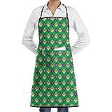 Mardi Gras Fleur De Lis Cooking Kitchen Aprons With Pockets Bib Apron For Cooking, Baking, Crafting, Gardening, BBQ