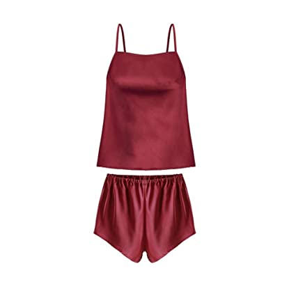 CJC Sexy Lencería Mujer Pijama Conjuntos Ropa de Dormir Delantal y Pantalones Cortos (Color :