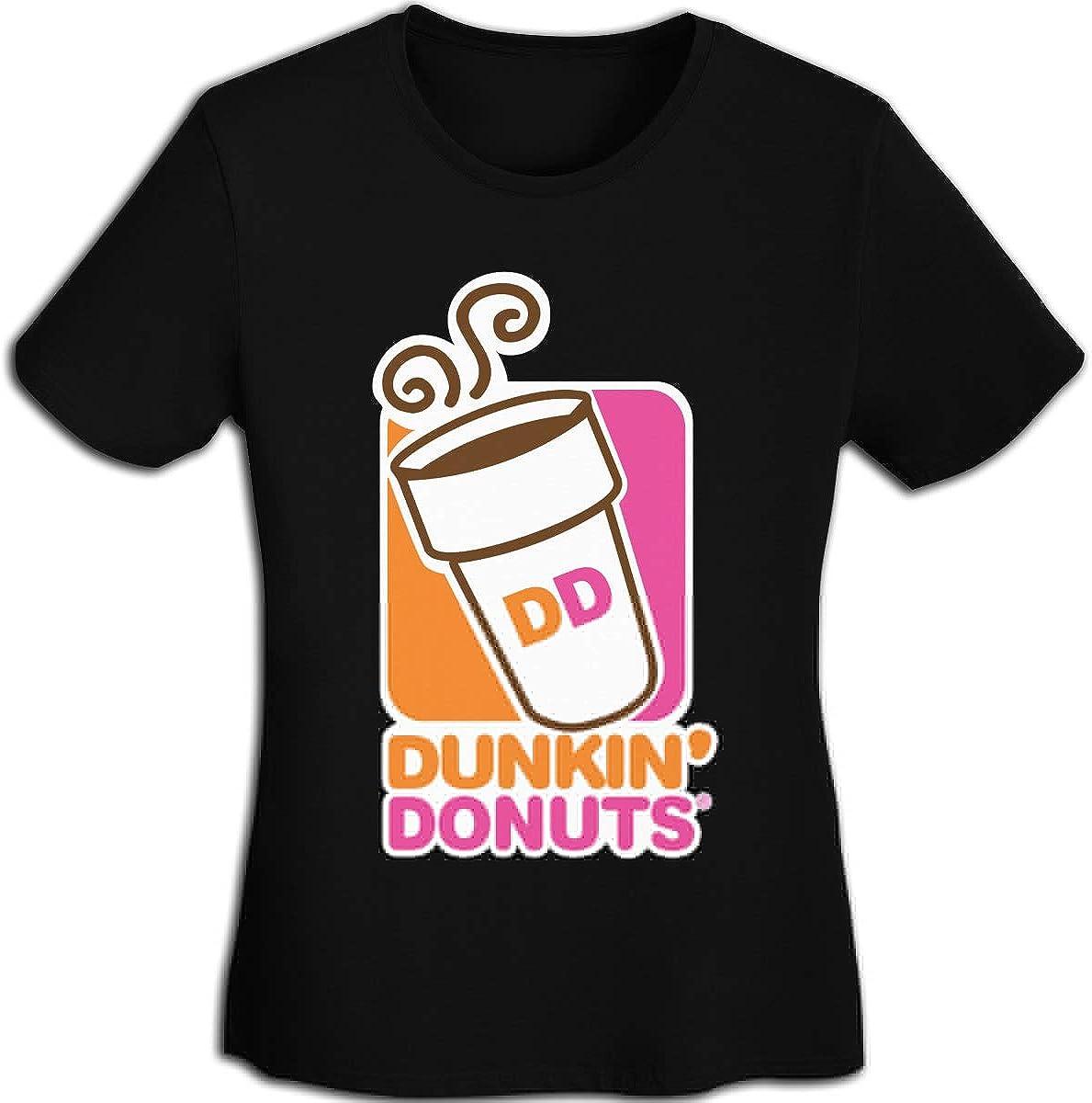 Womens Dunkin-Donuts-Logo Logo Tee Shirts Short Sleeve T Shirt for Women Tshirt Clothes