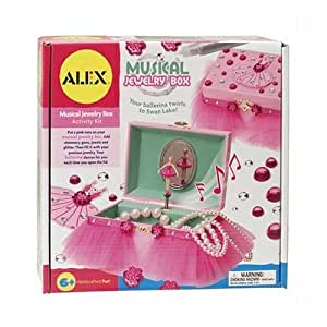 Alex toys craft musical jewelry box kit with for Amazon ballerina musical jewelry box
