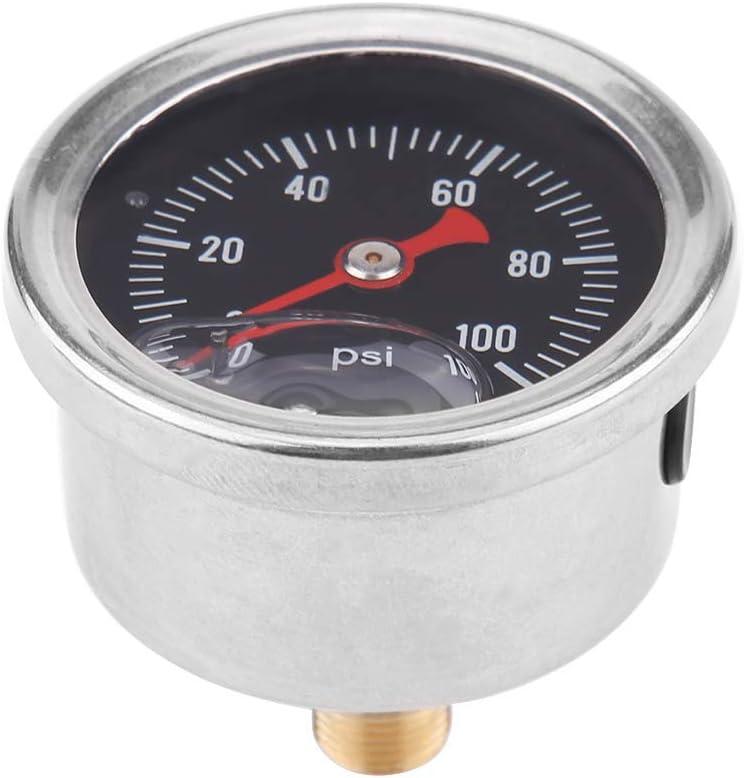KIMISS Universal Adjustable Fuel Pressure Regulator Kit Oil 0-100psi Gauge AN 6 Fitting End