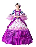 Zukzi Women's Gothic Victorian Lolita Masquerade Dresses Ball Gowns, US 4, #201 Purple