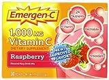 Alacer Emergen-C Vitamin C Fizzy Drink Mix Raspberry - 1000 Mg - 30 Packets