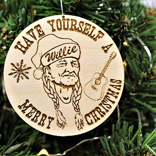 Have Yourself a Willie Merry Christmas Handmade Wood Ornament (Christmas Austin Ornament)
