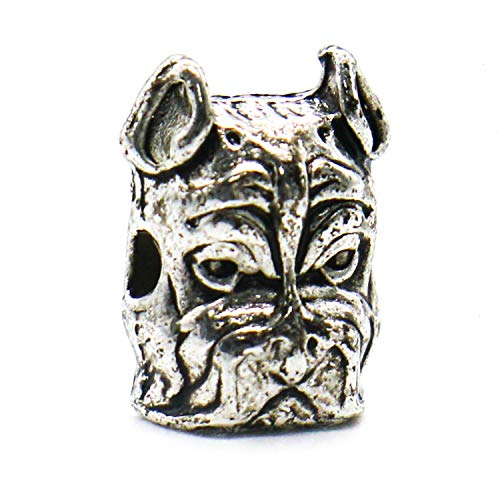 (IDS 10 Pack Bulldog Beads Dog Head Bead Pet Charms for Dog Lovers Charm Bracelet Animal Spacer Beads Jewelry DIY Accessories 12x8mm 10Pcs Antique)