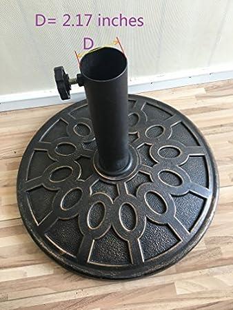 Nero Nero Black Do4U Anello Spina di Foro per ombrellone ombrellone Base Supporto e Tappo da 2.1/Pollici