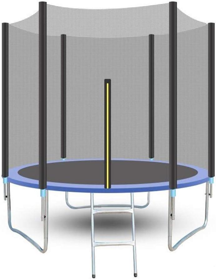 QXTT Trampolín Cama Elástica De Jardín Trampolín para Niños 244cm Interior Exterior Red De Seguridad con Recinto Escalera Ejercicio Fitness Jump para Infantil Chico Chica