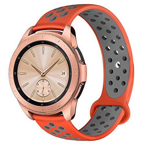 Compatible for Samsung Galaxy Watch 42mm Band/Galaxy Watch Active 40mm Bands,YiJYi 22mm Silicone Strap Sports Replacement Wristband for Women Men