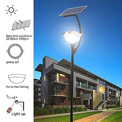 PowMr 3watt LED Solar wall light with 25M Remote Wireless Control, Solar Street Light outdoor waterproof IP55 Lithium Battery 6600mA