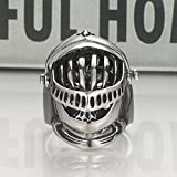 Zoro Jewelry Silver Tone Well polished Medieval Crusader Templar Knight Helmet 316L Stainless Steel Mens Warrior Ring (8)