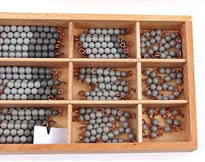 Montessori Wiskunde Decimalism, -9 Beads Bar in houten doos, Math Early Teaching Learning Material, Educatief speelgoed voor kinderen