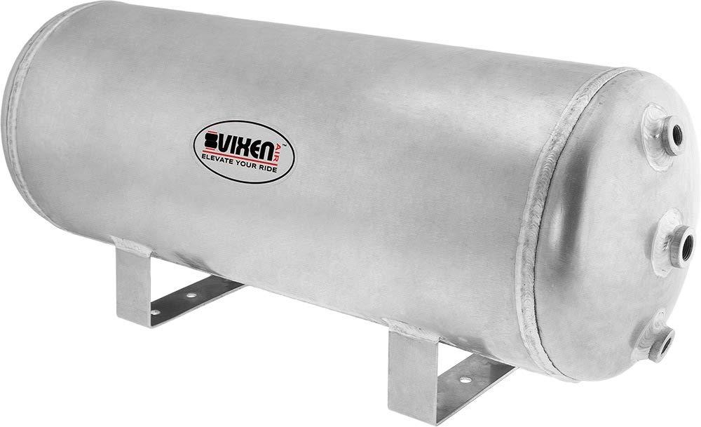 Vixen Air 5 Gallon (20 Liter) 9 Ports Suspension/Train/Horn Raw Aluminum Air Tank 200 PSI VXT5200A