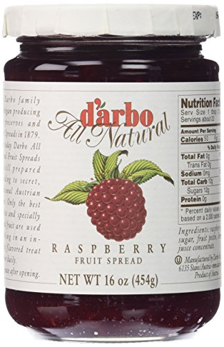 D'arbo All Natural Fruit Spread, Raspberry, 16 (All Natural Jam)