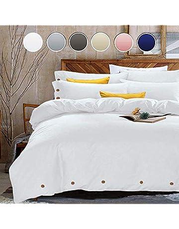 7f441e0fb491 NANKO White Duvet Cover Set Full Queen - Luxury Microfiber Comforter Set  Bedding Cover - Best