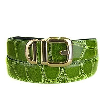 BLTBY-ALG-43 - Green - Boys Alligator Skin Bonded Leather Belt
