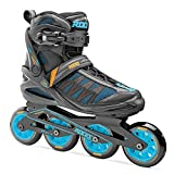 Roces 400817 Men's Model Xenon 2.0 Fitness Inline Skate, US 11, Black/Cyan
