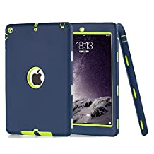 iPad 5 Case, iPad Air Case, Vivi Full-body Heavy Duty Beetle Defense High Impact Resistant Hybrid 3 Layer [Silicone&PC] Combo Case For Apple iPad 5(iPad Air) (indigo)