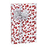 Berry Frost Holiday Gift Wrap Roll - 24 Inches x 85 Feet Long (4 Rolls)