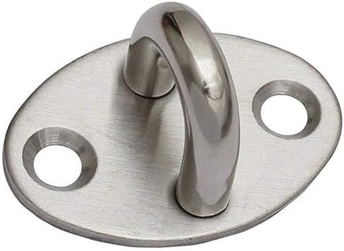 Wandhaken /Ösenplatte Wirbel/öse Wand-Befestigung 1 St/ück Ringplatte | Edelstahl A2 OPIOL QUALITY Augplatte mit Wirbel und Ring 40x40 mm