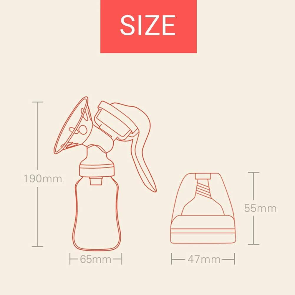 Silicona con Tapa para Lactancia Bomba de Leche Bomba de Leche Bomba de Pecho Manual Bomba de Mano EisEyen M/áquina de traer Manual Lactancia