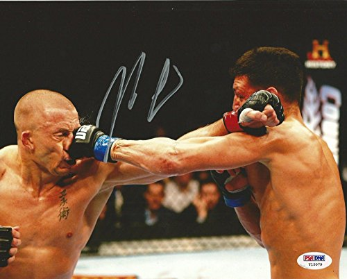 Nick Diaz Signed UFC 8x10 Photo COA 158 v Georges St-Pierre Picture Auto - PSA/DNA Certified - Autographed UFC (8x10 Photo Autographed Coa Auto)